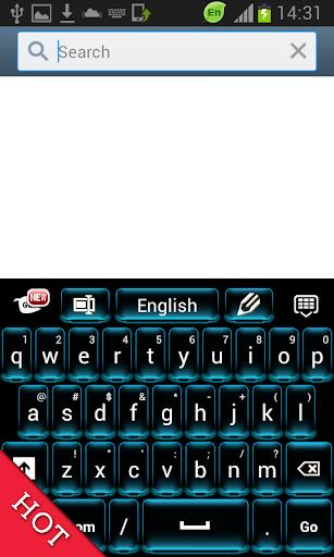 無料ネオンブルーのキーボード