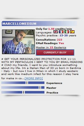 PSYCHIC EXPERTS - screenshot