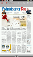 Screenshot of inFranken E-Paper