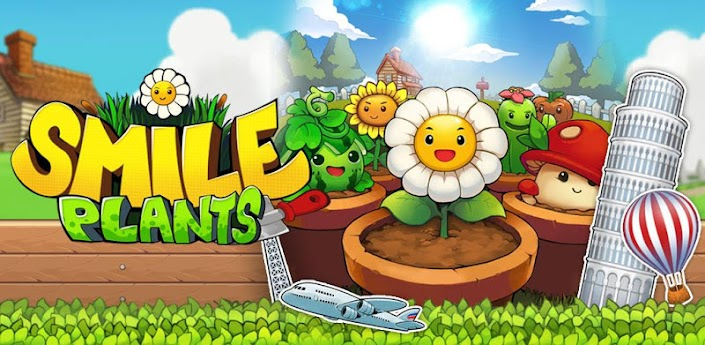 Smile Plants игра 3 в ряд от Gamevil скачать на android