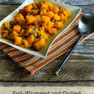 Foil-Wrapped Grilled Butternut Squash with Sage.