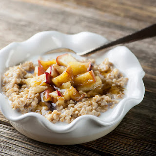 Toasted Brown Butter Oatmeal with Apples.