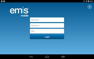 Screenshot of EMIS Mobile
