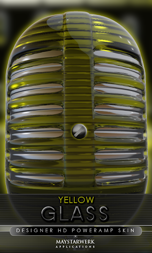 Poweramp skin yellow glass