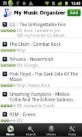 Screenshot of My Music Organizer Pro