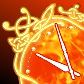 Fire Clock widget deluxe