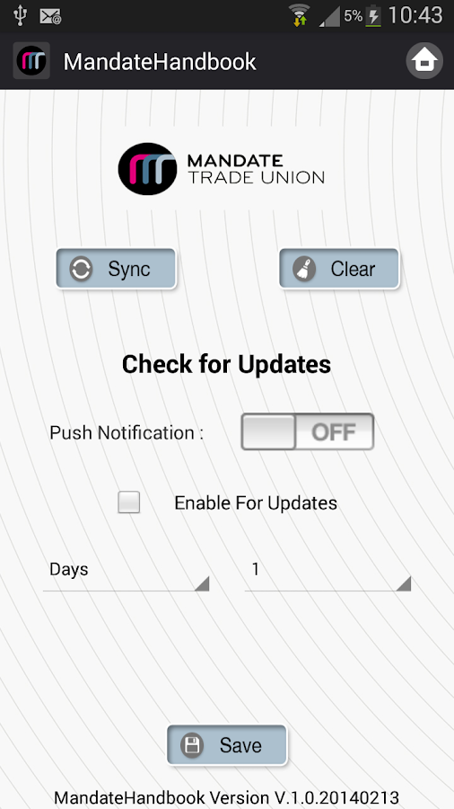 Mandate Trade Union App- screenshot