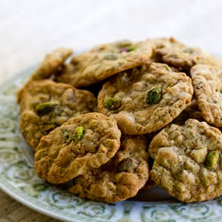 Pistachio White Chocolate Chip Cookies