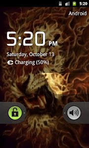 3D Flaming lion live wallpaper screenshot 1