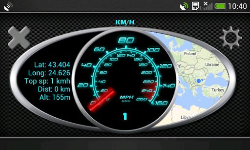 在KPH,GPS英里時速表