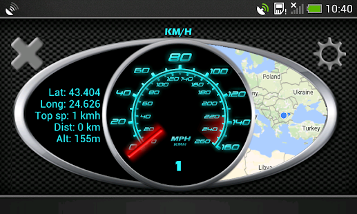 GPS Speedometer in kph and mph- screenshot thumbnail