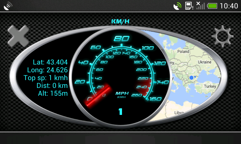 Glowing GPS Speedometer - android gps speed app