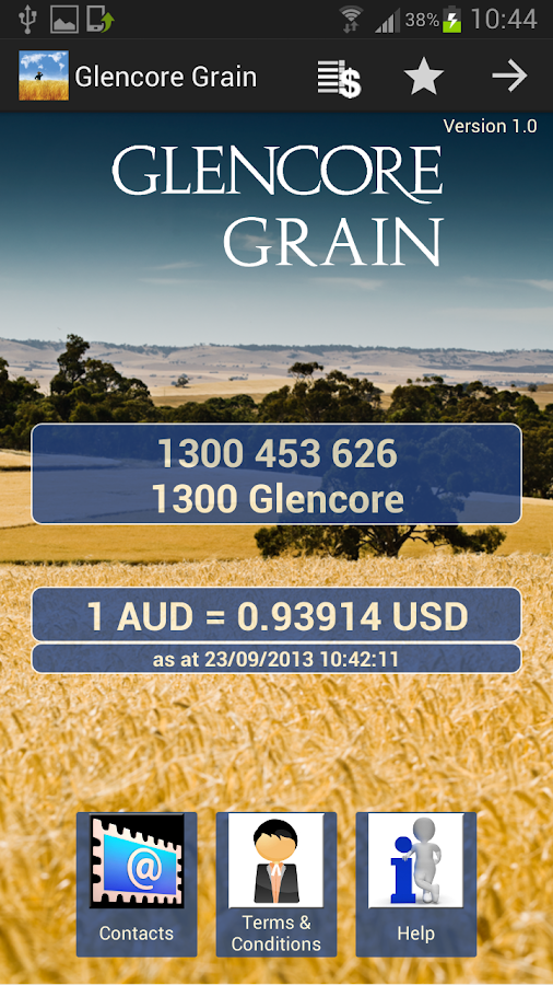 Glencore Australia Pricing - screenshot