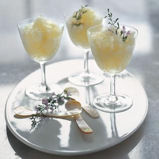 Sauternes and Lemon Honey Granita