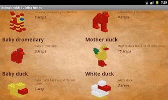 Screenshot of Animals with building bricks