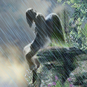 Sad Angel Crying Raining LWP icon