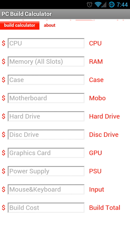 Pc Build Calculator Android Apps On Google Play