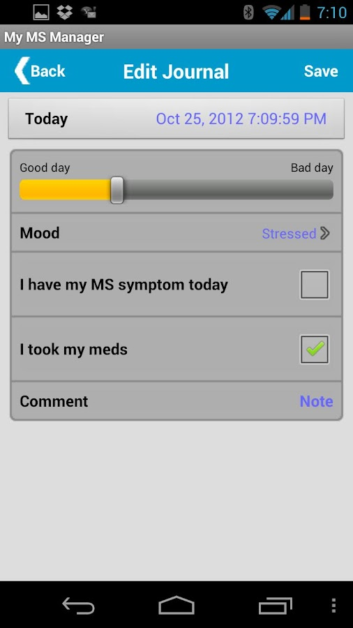 MSAA Self-Care Manager- screenshot