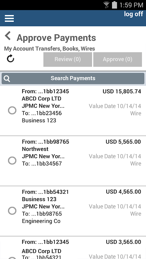 J.P. Morgan ACCESS Mobile- screenshot