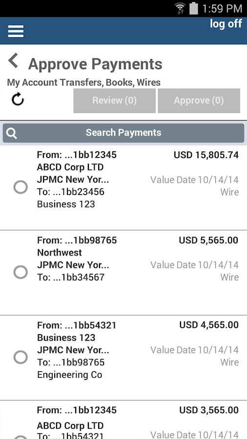 J.P. Morgan ACCESS Mobile - screenshot