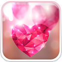 Diamond Hearts Live Wallpaper
