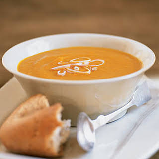 Curried Carrot, Sweet Potato, and Ginger Soup.