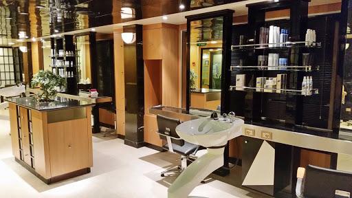 Emerald-Princess-Salon - The hair salon, located in the Lotus Spa, deck 16 forward on Emerald Princess.