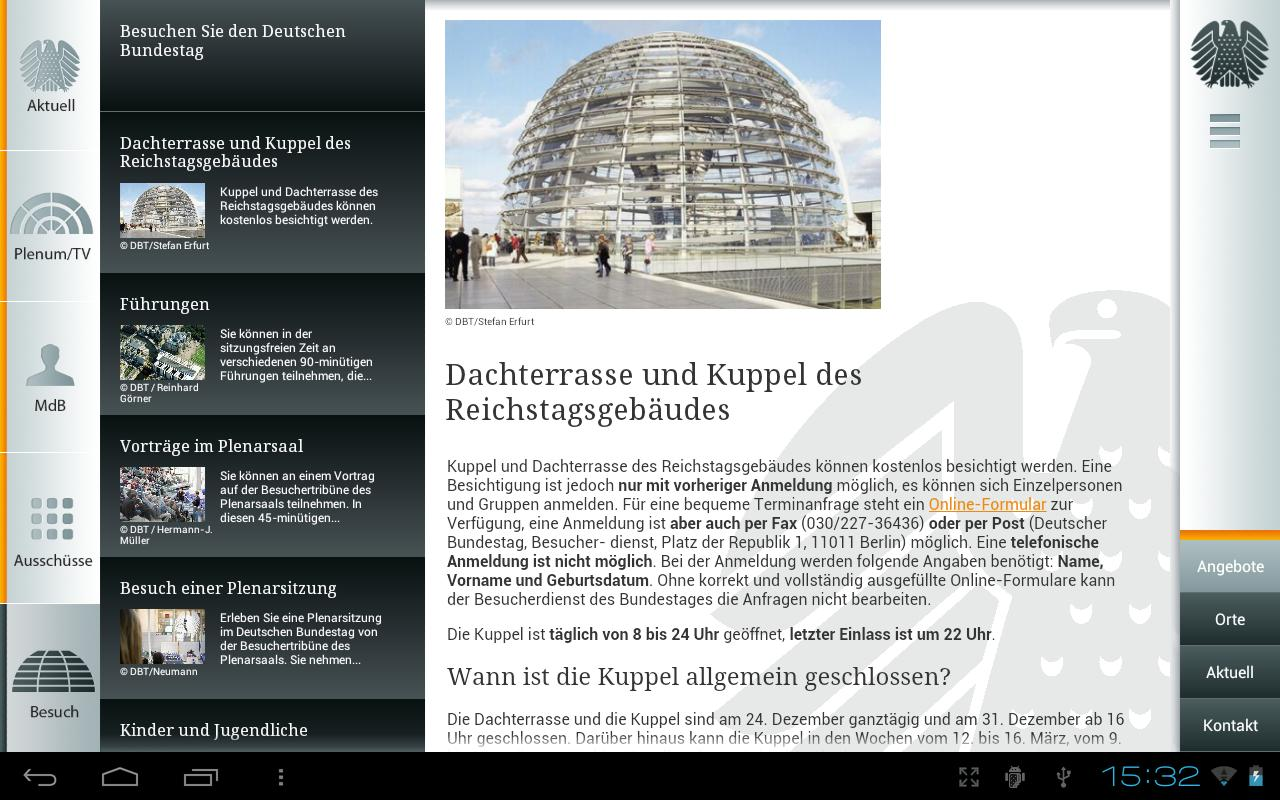 Deutscher Bundestag - screenshot