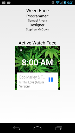 Weed Watch Face for Wear