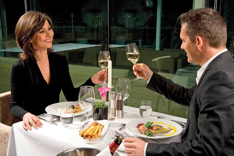 Couples checked into Danube Deck, Junior and Royal Suites can look forward to sumptuous dishes, chilled wine and a romantic atmosphere at Table La Rive aboard your Scenic sailing.