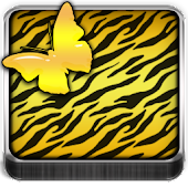 THEME - Gold Zebra Butterfly