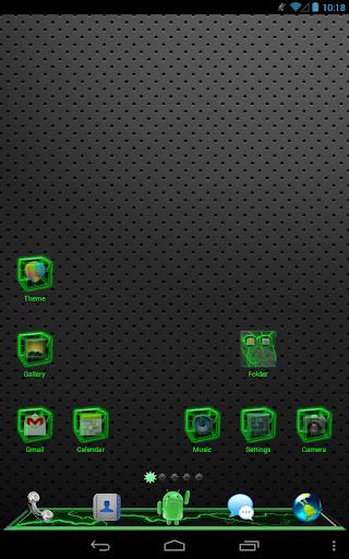 Green Thunder GOLauncher Theme