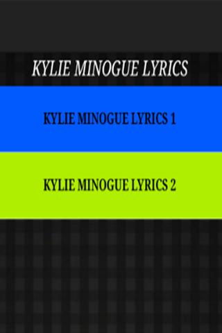 Just The Lyrics -Kylie Minogue