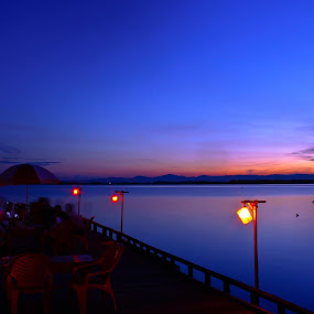 turn of the night by Miun Srv - Landscapes Waterscapes ( #kendari #teluk #bay,  )