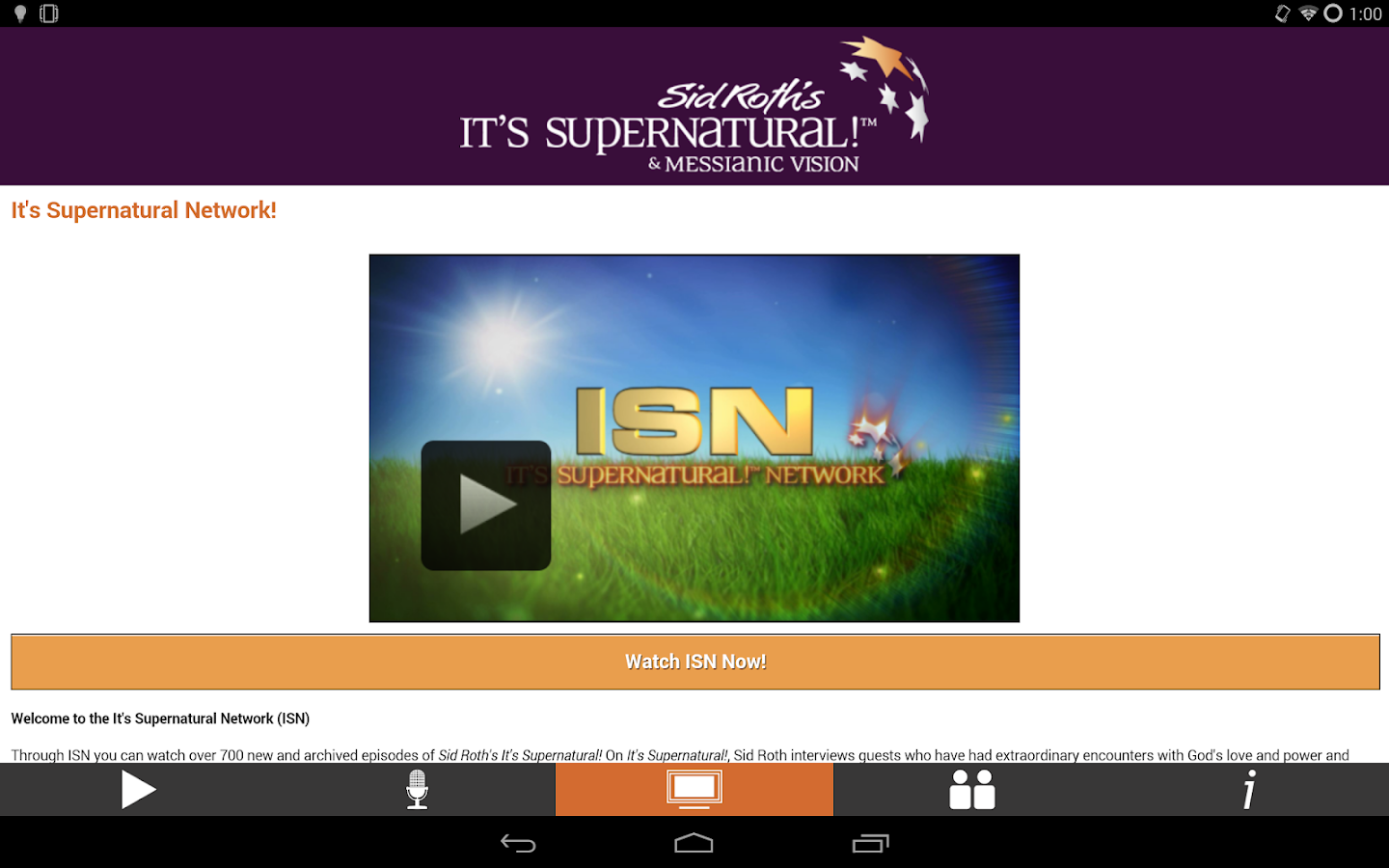 Sid Roth's It's Supernatural!- screenshot
