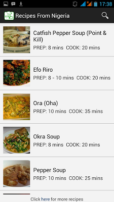 Recipes from Nigeria - screenshot