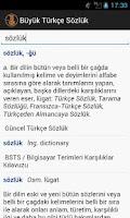Screenshot of TDK Büyük Türkçe Sözlük