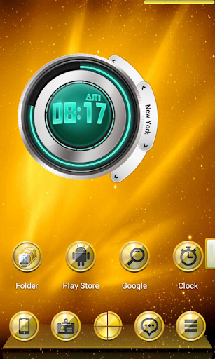 3D Golden Next Launcher Theme v1.0 Apk