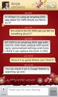 Screenshot of GO SMS Pro New Year - Red