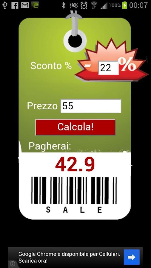 Easy discount calculator- screenshot