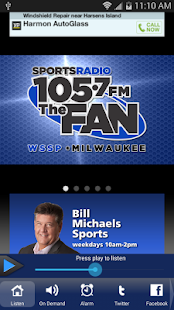 105.7 The Fan LIVE!- screenshot thumbnail