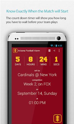 Arizona Football Alarm