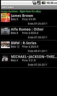 bidStalker Lite for eBay screenshot