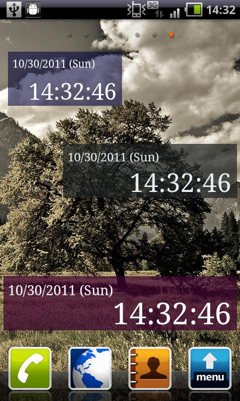 Seconds Clock Widget- screenshot