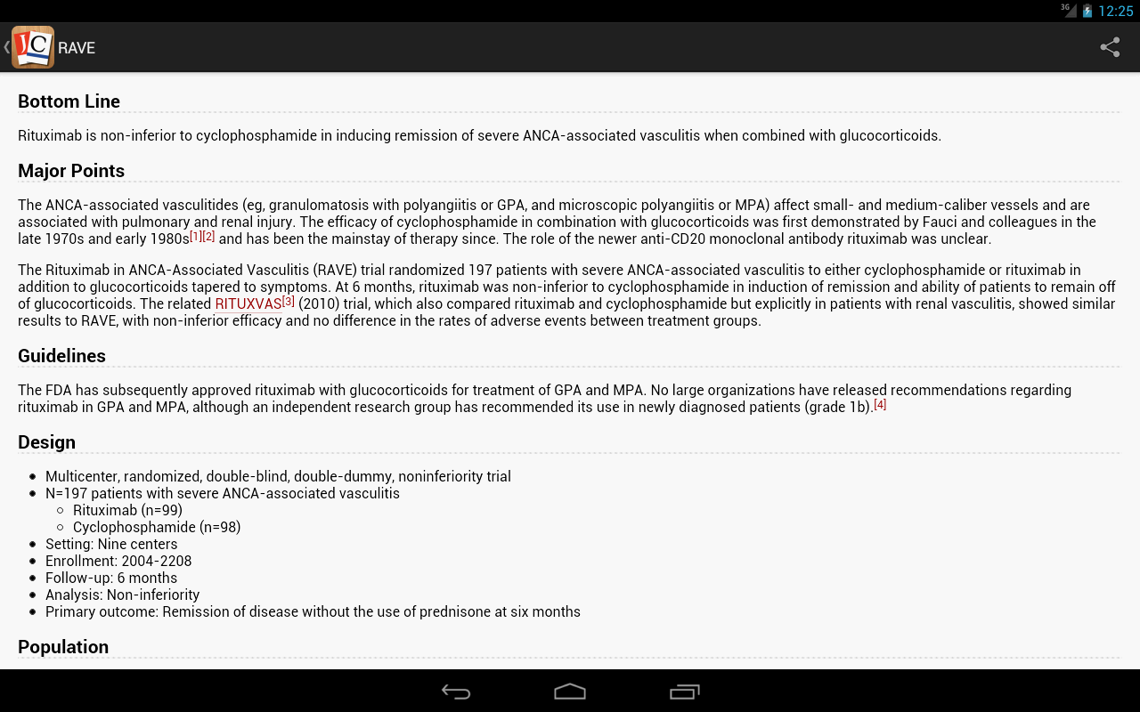 Journal Club for Android - screenshot
