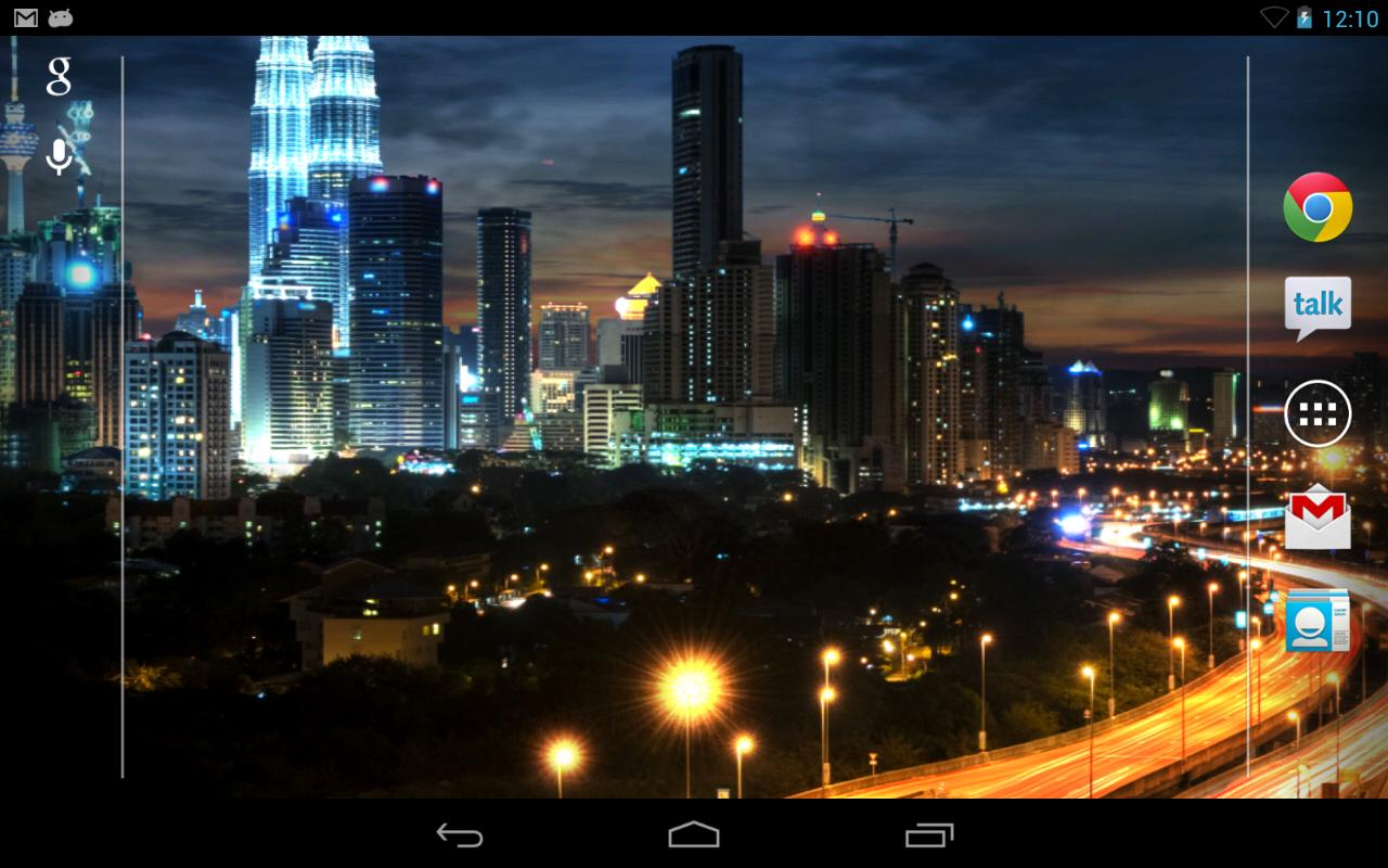 City at Night Live Wallpaper - screenshot