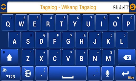 SlideIT Tagalog-Filipino pack - screenshot thumbnail