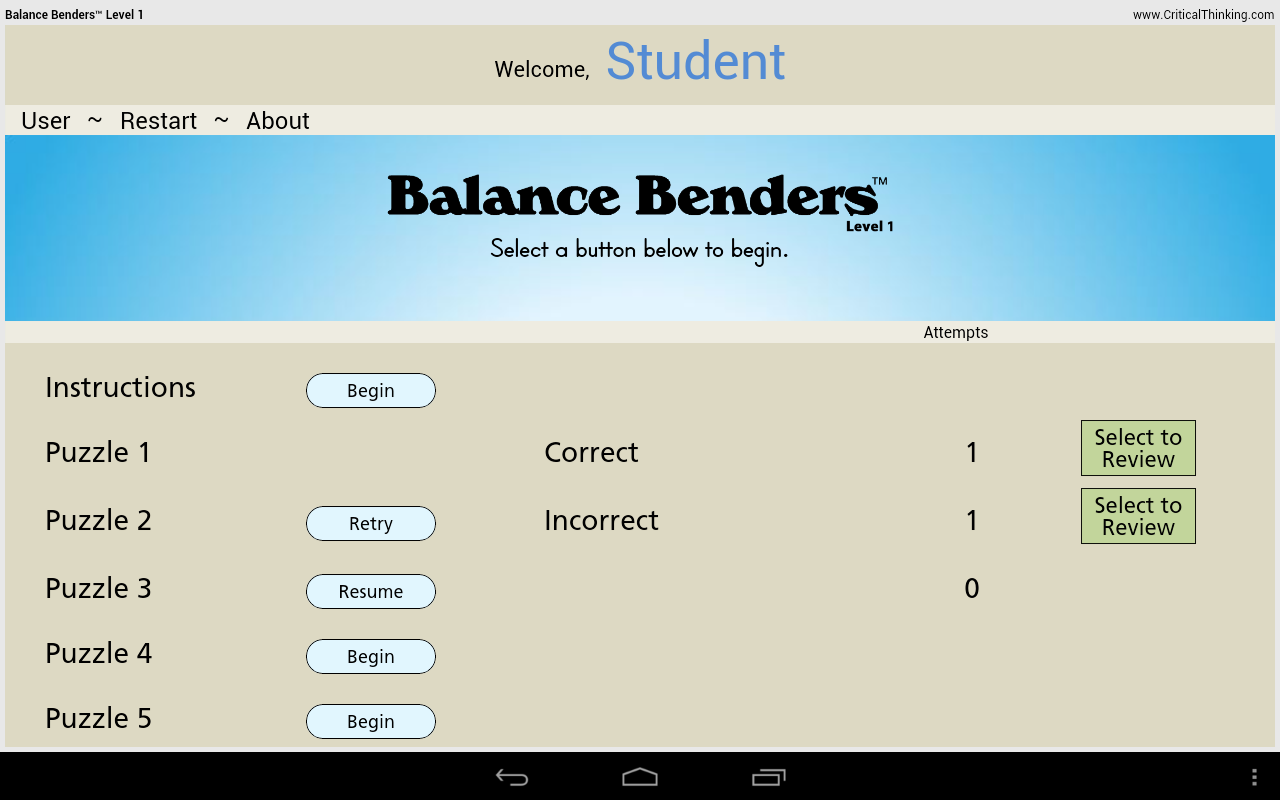 Balance Benders™ Level 1- screenshot