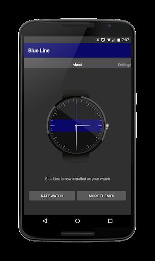 Blue Line Watchface for Wear