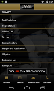 Piquet Law Firm- screenshot thumbnail